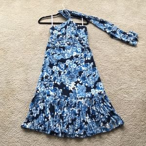 Tory Burch Silk Floral Halter Dress
